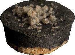 black sesame cheesecake